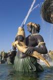 Fountain des Mers, Concorde-vierkant, Parijs Stock Foto
