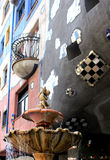 Fountain detail at Hundertwasser, Vienna Stock Photos