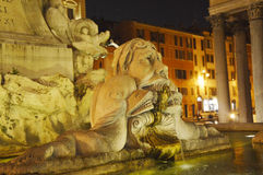 Fountain detail near The Pantheon, Rome, Italy Stock Photography