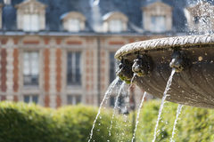 Fountain detail in the Place des Vosges in Paris Royalty Free Stock Image