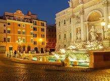 Fountain di Trevi在罗马,意大利 库存照片