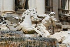 Fountain Di TREVI - θέση της διάσημης Ρώμης Στοκ Εικόνα