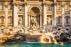 fountain di Trevi 库存照片