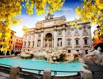 Fountain di Trevi in autumn Stock Photography