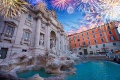Fountain di Trevi en Roma, Italia fotos de archivo libres de regalías