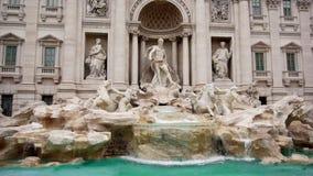Fountain di Trevi en Roma, Italia Cámara lenta metrajes