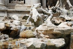 Fountain di Trevi - famous Rome's place Royalty Free Stock Photos