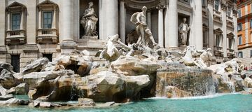 Fountain di Trevi - famous Rome's place Stock Photo