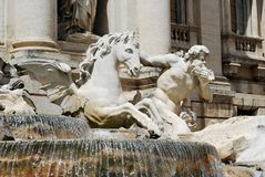 Fountain di Trevi - famous Rome's place Stock Image