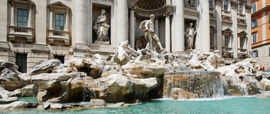 Fountain di Trevi - famous Rome's place Royalty Free Stock Image