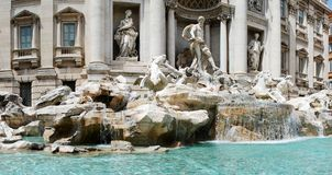 Fountain di Trevi - famous Rome's place Royalty Free Stock Photography