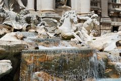 Fountain di Trevi - famous Rome's place Royalty Free Stock Images