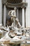 Fountain di Trevi - famous Rome's place Stock Photos