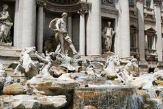 Fountain di Trevi - famous Rome's place Stock Photos