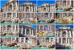 Fountain di Trevi Royalty Free Stock Photography