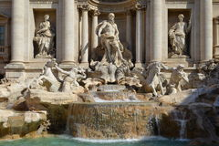 Fountain di Trevi - most famous Rome's fountains Royalty Free Stock Image
