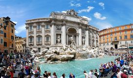 Fountain di Trevi - most famous Rome's place Stock Photos