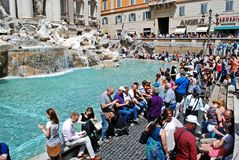 Fountain di Trevi - most famous Rome's place Stock Photo