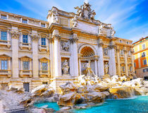 Fountain di Trevi ,Rome. Italy. Stock Image