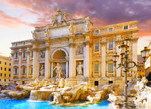 Fountain di Trevi, Rome. l'Italie. Images libres de droits