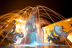 Fountain of Diana, Ortigia, Sicily, Night Royalty Free Stock Photography