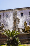 The fountain of Diana in Syracuse Royalty Free Stock Images