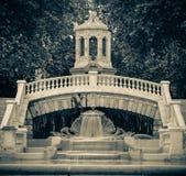 Fountain Dijon sephia and vignette effect Royalty Free Stock Photography