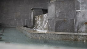 Fountain in the discharge water. Closeup of fountain in the discharge water stock video footage