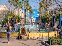 Fountain at Disney California Adventure Stock Photos