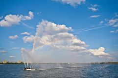 Fountain on the Dnieper Royalty Free Stock Images