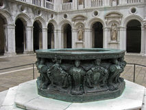 Fountain at the Doge Palace Venice Italy Royalty Free Stock Photos