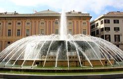 Fountain and Doge's Palace, Genoa Stock Photo
