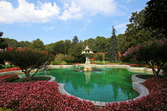 Fountain at Dolmabahce palace Royalty Free Stock Image