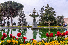 Fountain of Dolmabahce palace Royalty Free Stock Photography