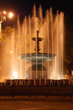 The fountain. In Donetsk in artificial lighting at night Royalty Free Stock Photography