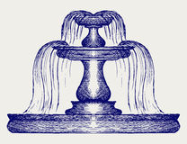 Fountain. Doodle style Stock Photography