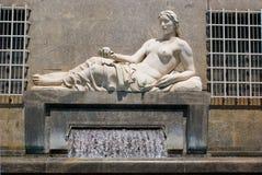 The fountain of Dora river, Turin Stock Photos