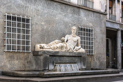 The Fountain of the Dora River, Turin, Italy Stock Images