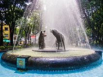 Fountain of drinking coyotes, Mexico City Royalty Free Stock Photo