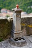 Fountain with drinking water in the old city of Morano Calabro royalty free stock images
