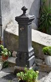 Fountain with drinking water in the old city of MoranoCalabro royalty free stock photography