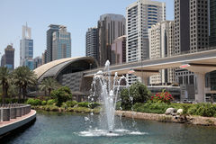 Fountain in Dubai Royalty Free Stock Photos