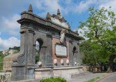 Fountain of the Duchess of Aosta - Naples - Italy Royalty Free Stock Photo