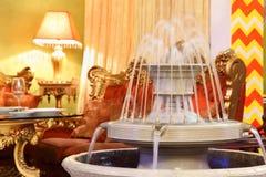 Fountain in eastern luxury restaurant Stock Photos