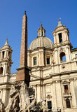 Fountain, Egyptian obelisk and church, Piazza Navona, Rome, Ital Stock Photos