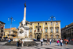 Fountain of the Elephant, Catania, Sicily Royalty Free Stock Image