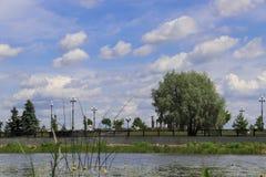 Fountain on the embankment of the Volga and Kotorosl embankment stock photography