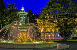 Fountain at the English garden, Geneva Royalty Free Stock Photos