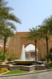Fountain at the entrance of luxury hotel Stock Photography