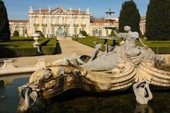 fountain & Facade.National Palace. Queluz.Portugal Royalty Free Stock Photos